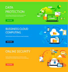 banner data protection concepts for web and vector image