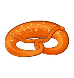 Bavarian pretzel icon cartoon style vector