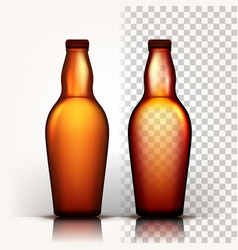 beer bottle oktoberfest brew alcoholic vector image