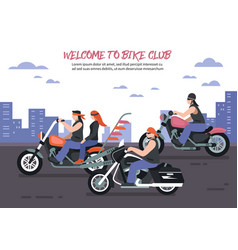 Biker club background vector