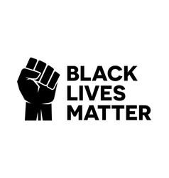black lives matter bumper sticker symbol vector image