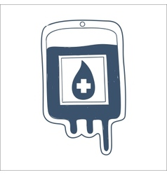 Blood bag isolated on white vector