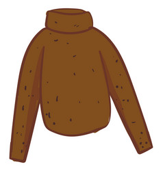 brown jumper on white background vector image