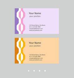 Business card template attractive chains in two vector