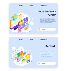 buy food online and meal delivery pay for food vector image