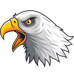 Cartoon eagle head mascot vector