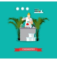chemistry laboratory and vector image