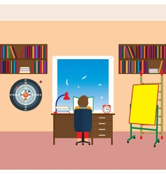 Child reading a book vector image