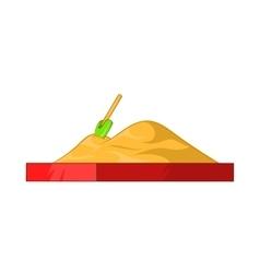 Children sandpit icon cartoon style vector image