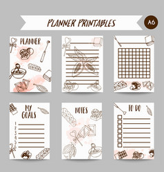 Chocolate printables cacao sketch planner cocoa vector
