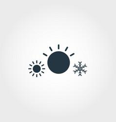 climat control system creative icon monochrome vector image
