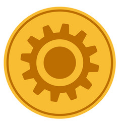 Cog coin vector