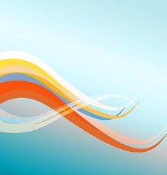 Color waves on blue background vector image