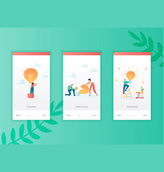 creative idea onboarding screens template business vector image