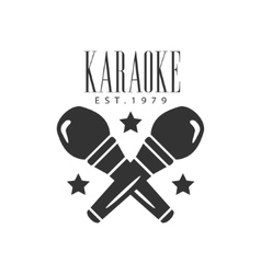 Crossed Microphones Karaoke Premium Quality Bar vector