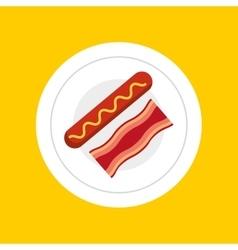 delicious breakfast menu icon vector image