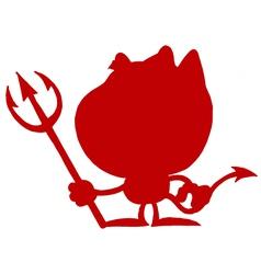 Devil silhouette cartoon vector