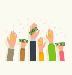 donation money vector image