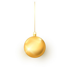 elegance round golden christmas toy colorful vector image