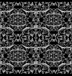 embroidery vintage floral seamless pattern vector image