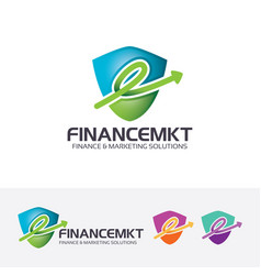 finance marketing logo design vector image