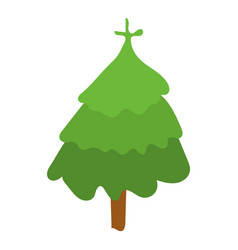 fir tree icon isometric style vector image