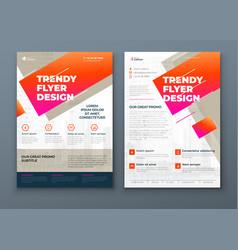 flyer design soft biege modern flyer background vector image