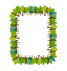 Frame is tree rectangular forest background vector