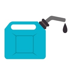 fuel oil can icon vector image