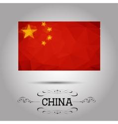 geometric polygonal China flag vector image