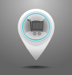 Glossy shop icon vector