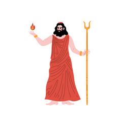 Hades olympian greek god ancient greece mythology vector