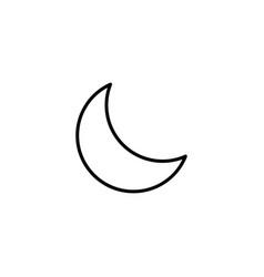 half moon icon vector image