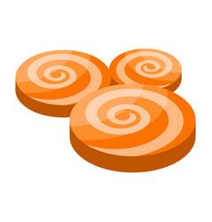 halloween swirl icon isometric style vector image