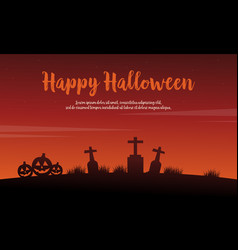 Happy halloween background with pumpkin vector