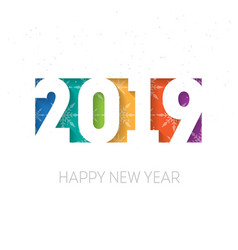happy new year 2019 background cover of business vector image