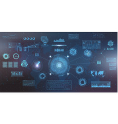 hightech elements set hud ui style vector image