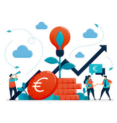 Ideas for investment bank interest and savings vector