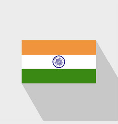 India flag long shadow design vector