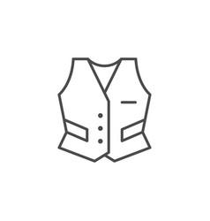 Industrial uniform line outline icon vector