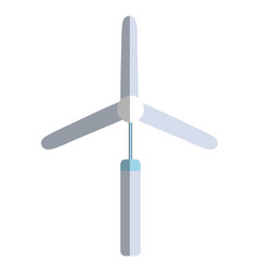 Industry windpower generator to ecology protection vector