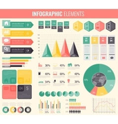 Infographic Elements Collection Flat design vector image