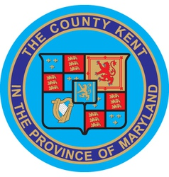 Kent County vector image