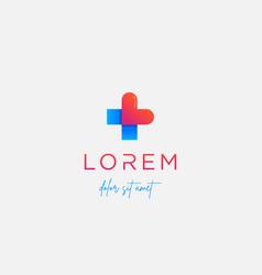 Love cross logo design isolated icon vector