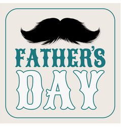 moustaches clipart fathers day holiday with vector image