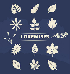nature elements collection - leaves and grass vector image