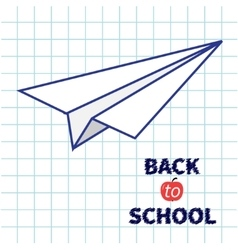 Origami paper plane Handdrawn doodle Paper sheet vector