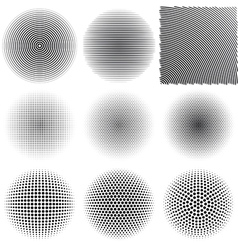 Radial patterns vector