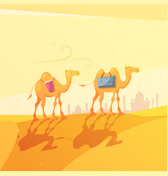 Ramadan camel vector