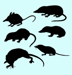 Rat and mice silhouette vector